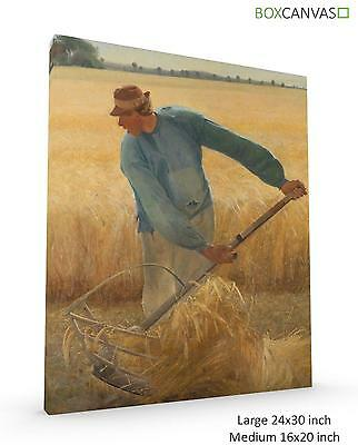 L Ring Danish Realist Harvest Canvas Picture Wall Art