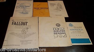 Cold War Relic Civil Defense publications Lot - The Family Fallout Shelter Prep