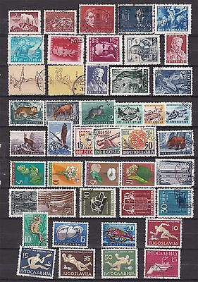 YUGOSLAVIA ^^^^^^1950-56better  mint 7 used collection  @ f5333yugo
