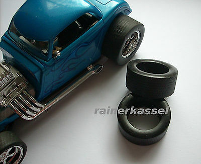High Gripp Reifen für Carrera Exclusiv / Digital 124 , Ford 34´ Hot Rod