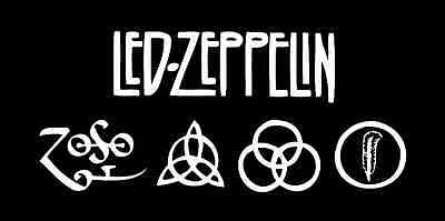 Led Zeppelin Black Album Cover 2' x 4' Vinyl Banner Poster Sign