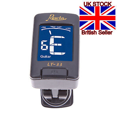 Digital Acoustic Electric Clip-On Guitar Tuner, Chromatic Bass Violin Ukulele UK