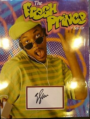 Will Smith Fresh Prince Of Bel Air signed 16x12 photo card display PROOF AFTAL