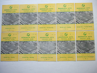 Norwich City 1959/60 season home football programmes listed