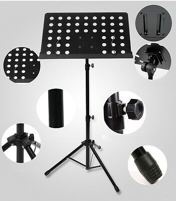 NEW Music Sheet Stand Adjustable Folding Heavy Duty Large Professional Stage