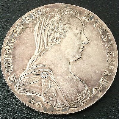 Marie Theresa Silver Thaler 1780 Restrike