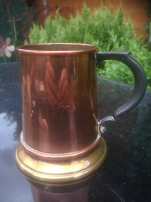 Vintage Beer Tankard CHEERS SYD DICK Copper Brass Pewter and Glass