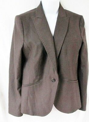 NEW UNITED COLORS OF BENETTON ITALY jacket Hipster Blazer Riding Coat 48 BROWN
