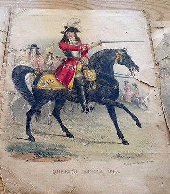 """GENUINE ANTIQUE HAND TINTED COPPER ENGRAVINGS - Madeley Artist - 7""""X 5"""""""