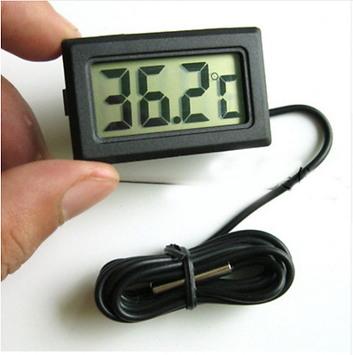 Aquarium Fish Tank Digital LCD Thermometer - Batteries included