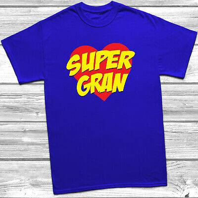 Supergran T Shirt Mothers Day Gift Christmas Present Tee Top Ladyfit Unisex