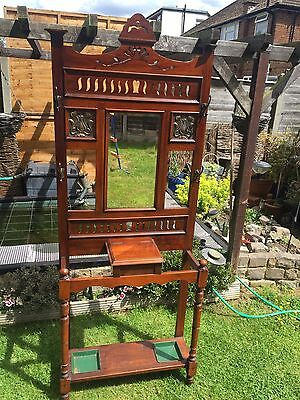 Absolutely Stunning Antique Art Nouveau/Arts and Crafts hall stand
