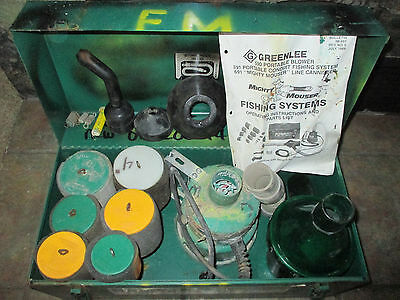 Greenlee # 591 Mighty Mouser Fish Tape Blower System / Set With Case
