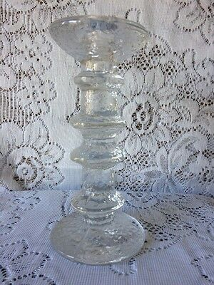 "IIttala Festivo 4 ring candle holder - Made in Finland - 7.25"" high - circa 1966"