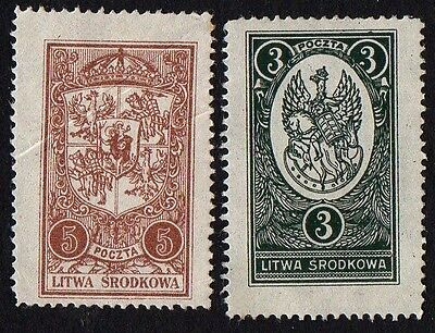 Central Lithuania. 1921 New Daily Stamps. MH