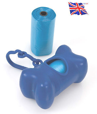 Doggy Bags Holder Dispenser Pooper Scooper Bag Dog Cat Poo Waste Toilet UK