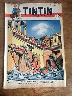 journal tintin France 5 (1948) couv jacques martin RARE