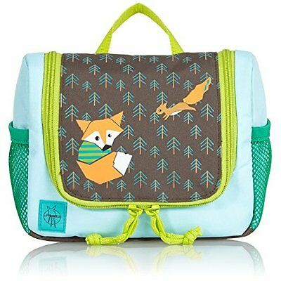Lassig Kids Hanging Wash bag with multiple compartmentss, Little Tree Fox