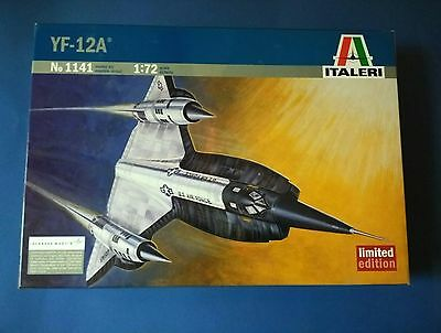 Rare Limited Edition Italeri YF-12A Model Aircraft  1:72 Scale