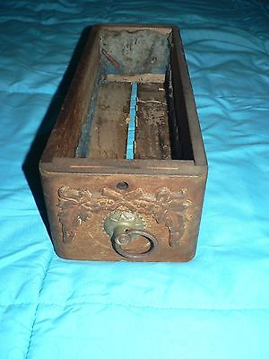 Antique Vintage Singer / White Sewing Machine Cabinet Drawer with ornate front