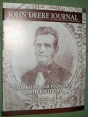 JOHN DEERE JOURNAL Celebrating Founders 200th Birthday 2004 Volume 33 Magazine