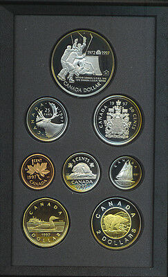 Canada 1997 Double Dollar Proof Coin Set Silver Hockey USSR Henderson Box COA