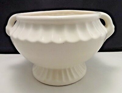 Jardiniere Flower Pot Planter White Pottery N.S. Co.