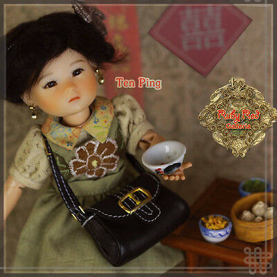 Ten Ping #7 HA0007A Ruby Red Galleria 8in BJD Mint Doll Asian Doll Set. NRFB