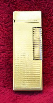 Pre-1970 Dunhill Rollagas Gold-Plated Hobnail Lighter