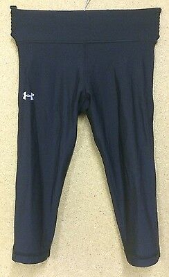 Ladies Under Armour Base Layer Leggings Trousers Black Cold Gear Running Gear