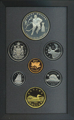 Canada 1993 Double Dollar Proof Coin Set Stanley Cup Silver $1 COA Box