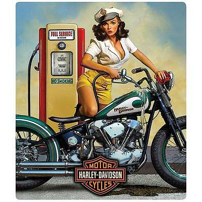 HARLEY DAVIDSON FULL SERVICE BABE EMBOSSED TIN SIGN-13″ x 15″-NEW W/TAGS