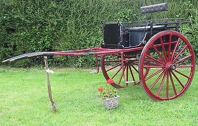 A Charming 2 Seater Horse Drawn Pony Trap, Gig, Cart