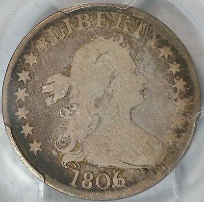 Very Nice 1806/5 Draped Bust Quarter, Pcgs Vg10 W/ Cac Sticker, 3-Day Return