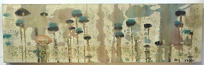 Vintage Mid Century Modern Lee Reynolds Mixed Media Oil Painting Collage w/ tags