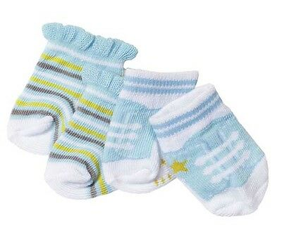 Baby Born Two Pairs Of Socks Blue Brand New In Pack 823576