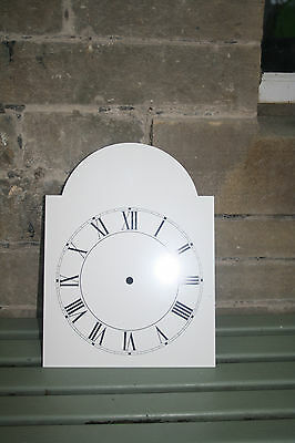 VINTAGE ENAMEL STYLE CLOCK FACE   REPLACEMENT PAINTED ON ALUMINIUM VGC m