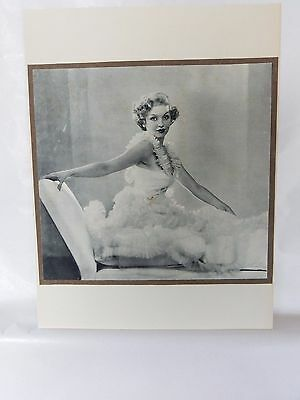 Boudoir Salon 1940s 50s  Decor Vintage print from photographers studio  glamour