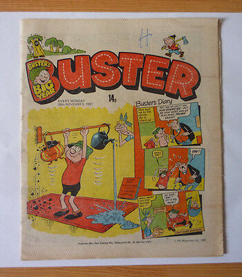 Buster 28 November 1981 Issue - British Weekly - Good Condition