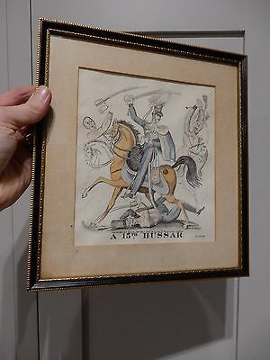 15TH HUSSAR   Hand Coloured Engravings  D. Ash of 27 Fetters Lane, London 1826