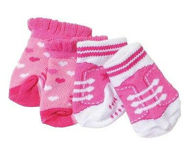 Baby Born Two Pairs Of Socks Pink Brand New In Pack 823576