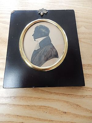 ENGLISH SCHOOL (Early 19th Century), A Gentleman, oval silhouette profile CLERGY