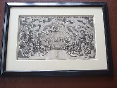MATTHAUS Kufel (1666 ATT.) early engraving beautiful item FRAMED devil