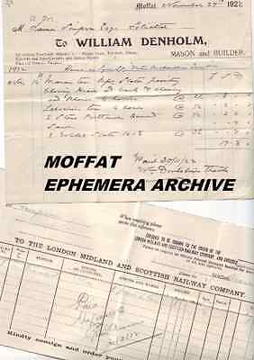 MOFFAT Dumfriesshire ARCHIVE Vintage Ephemera Bills Letters 600 original items V