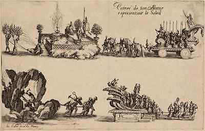 Entry of His Highness, Representing the Sun Le Combat à la Barrière 1627 ORIGINA