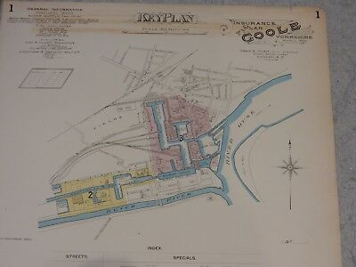 Plans of Goole Yorkshire, March 1896 (-1911), Goad,  GREAT GIFT POTENTIAL  aa