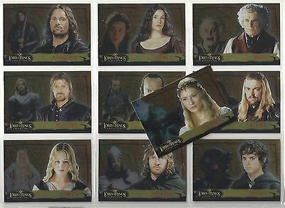 2006 Lord of the Rings Evolution LEVEL A Complete Set of 20 Chase Cards (1A-20A)