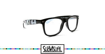 SubVisual Crystal Diffraction Glasses - Black Frame, Clear lenses