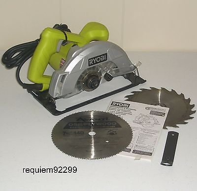 Ryobi Csb125 7-1/4 Corded Circular Saw~20 Tooth Carbide+Avanti Osb/plywood Blade