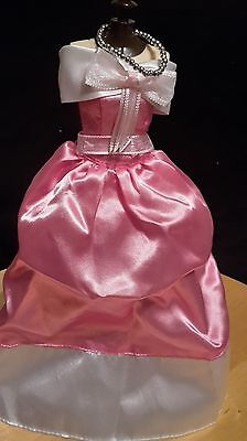Disney Princess Cinderella Pink Ball Barbie Doll Outfit Fashion Costume Dress